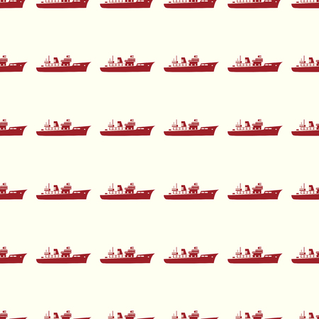 Sea transport vector illustration on a seamless pattern background Illustration