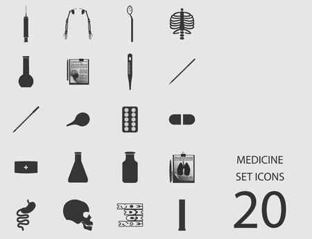 Medicine set of flat icons. Vector illustration