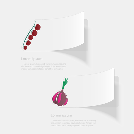Vegetables. Flat sticker with shadow on white background. Vector illustration 일러스트