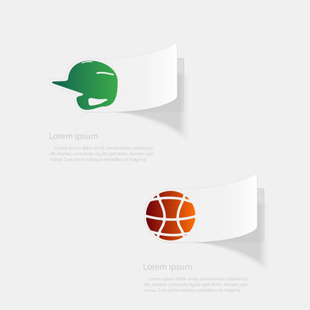 Sport. Flat sticker with shadow on white background. Vector illustration