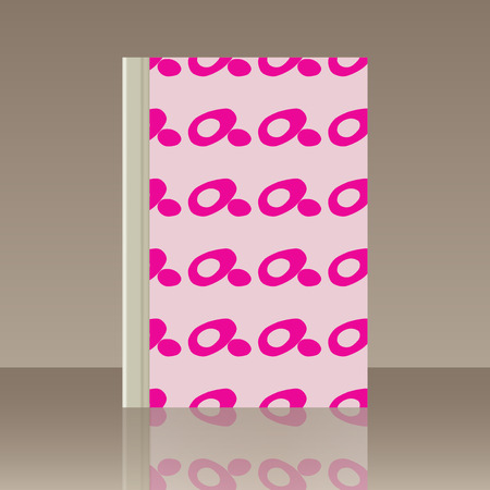 Pink outline cover design