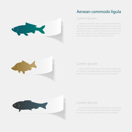 Fish outline design Illustration