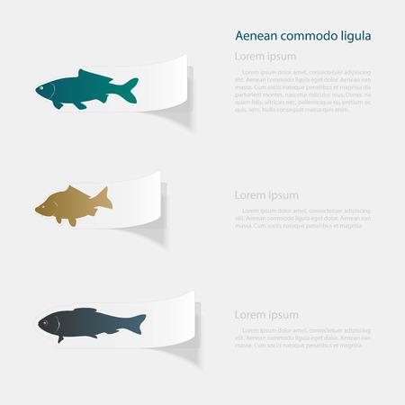Fish outline design Illusztráció