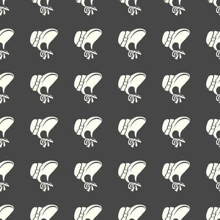 Headdresses for women vector illustration on a seamless pattern background.