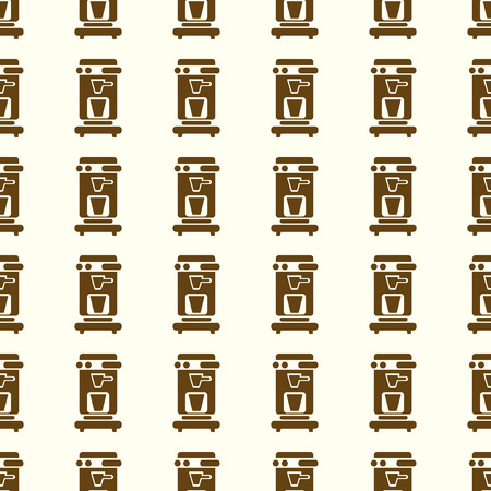 Coffee vector illustration on a seamless pattern background