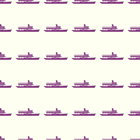 Sea transport vector illustration on a seamless pattern background Ilustrace