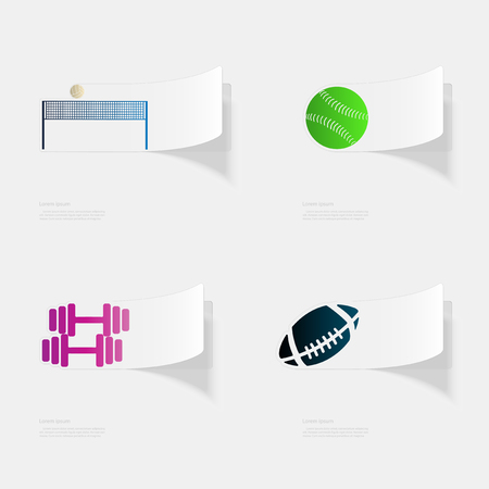 Sports equipment design illustration Vettoriali