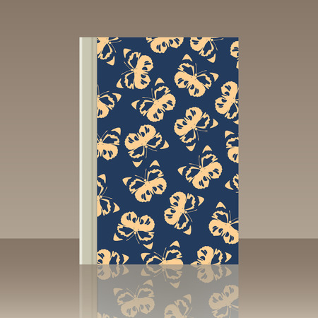 Butterfly pattern as Book cover template vector illustration