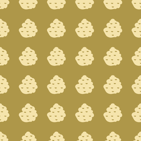Truffle fungus slice vector illustration on a seamless pattern background Ilustrace