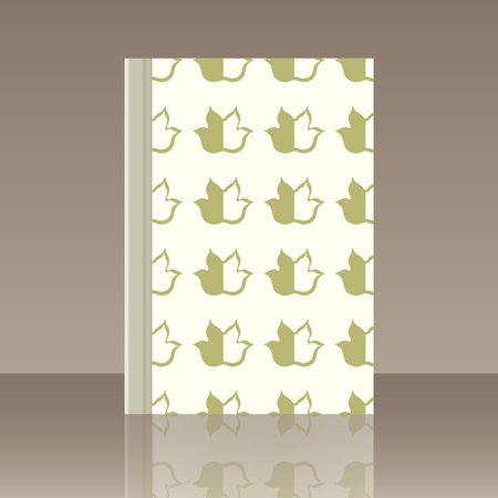 Leaves and Book. Realistic image of the object Vector illustration.