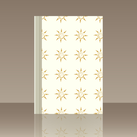 Sun and Book. Realistic image of the object with reflection Illustration