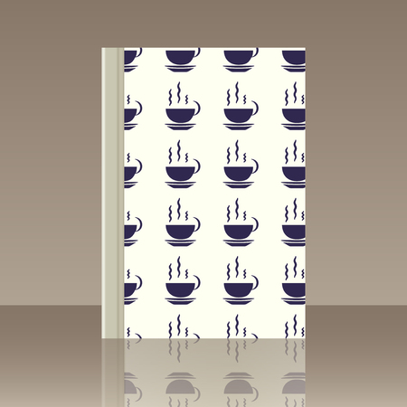 Coffee and Book pattern for wallpaper Иллюстрация