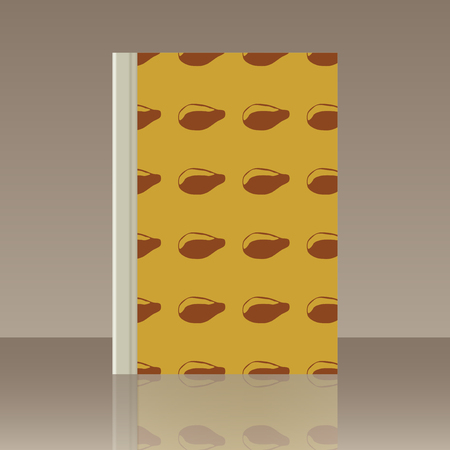 Fruits and Book. Realistic image of the object