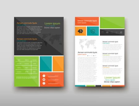 Leaflet cover presentation abstract geometric background, layout in A4 set technology brochure flyer design template vector shadow