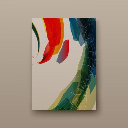 Dépliant couverture présentation abstrait géométrique, mise en page en A4 ensemble technologie brochure flyer design template vecteur ombre
