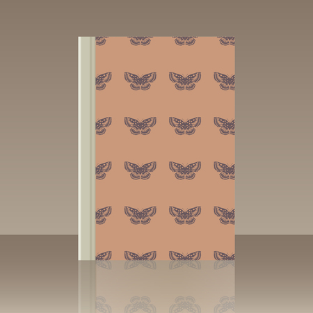 Butterfly and Book. Realistic image of the object