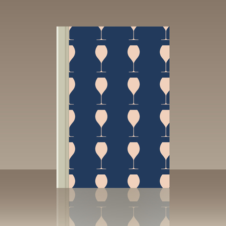Wineglasses and Book. Realistic image of the object Illustration