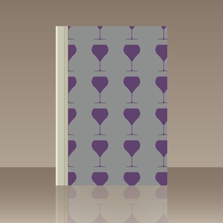 Wineglasses and Book. Realistic image of the object Archivio Fotografico