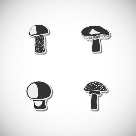 Setas conjunto de iconos con sombra. Ilustración vectorial