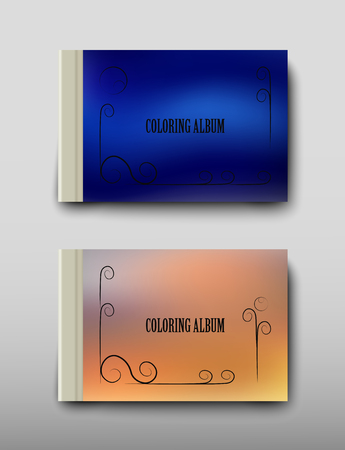 Poster brochure flyer design coloring template vector, Leaflet cover presentation abstract geometric background, layout in A4 size shadow