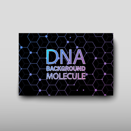 Poster brochure flyer design template vector, DNA abstract geometric background, layout in A4 size shadow