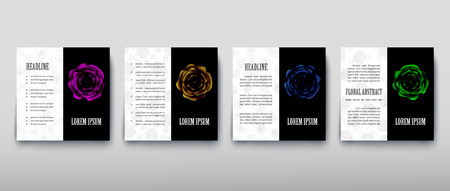 Poster brochure flyer design template vector, Leaflet cover presentation abstract geometric background, layout in A4 size shadow