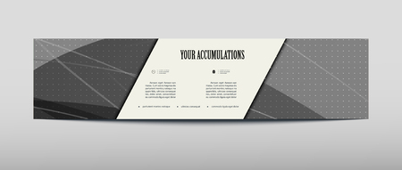 Card for business promotional offers in an abstract style on gray background with a shadow