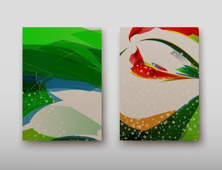 Cubra con un patrón abstracto de líneas dispuestas caóticamente sobre un fondo de color en estilo retro. Ilustración vectorial Ilustración de vector
