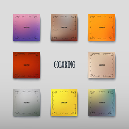 Cover paper sheet color with blurred background and an abstract graphic pattern. Vector illustration Illustration