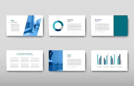 Cartel infografía información empresarial diseño moderno conjunto propuesta anuncio. Ilustración de vector con esquema gráfico