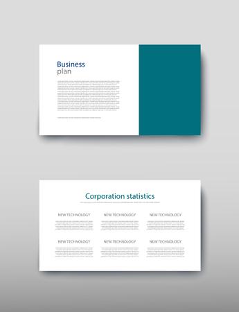 Poster Infografiken Informationen Business modernes Design Vorschlagsanzeige. Vektorillustration mit grafischem Schema