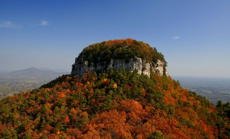Pilot Mountain In The Fall photo