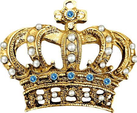 gold crown vintage photo