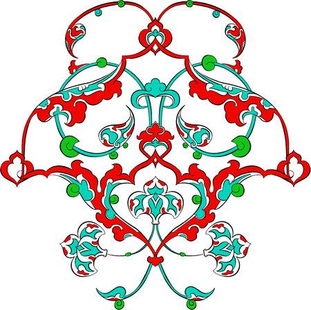 Ceramic ottoman turkish art pattern vector