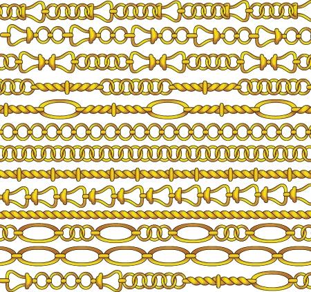 jewelries: Golden chain vector  Illustration