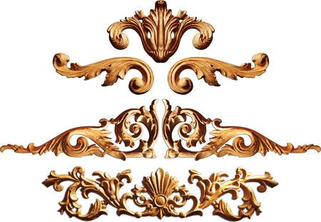 Cadres d'or anciennes vintage set isolé sur fond blanc Banque d'images - 26171874