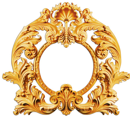 embroidery: picture  golden antique frames