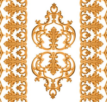 Baroque d'or isolé sur fond blanc Banque d'images - 31247231