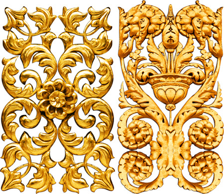 baroque: golden baroque isolated  on white background