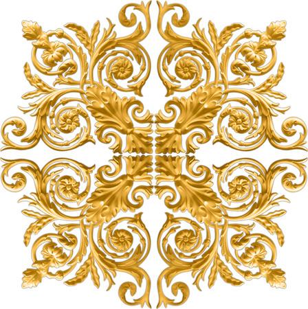 Baroque d'or isolé sur fond blanc Banque d'images - 31247241