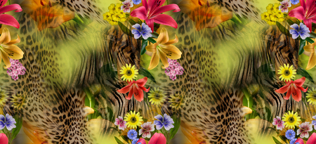 animal pattern: flower leopard seamles