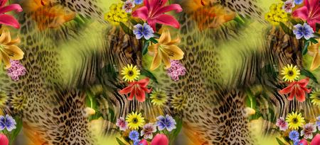 animal print: seamles flor leopardo Foto de archivo