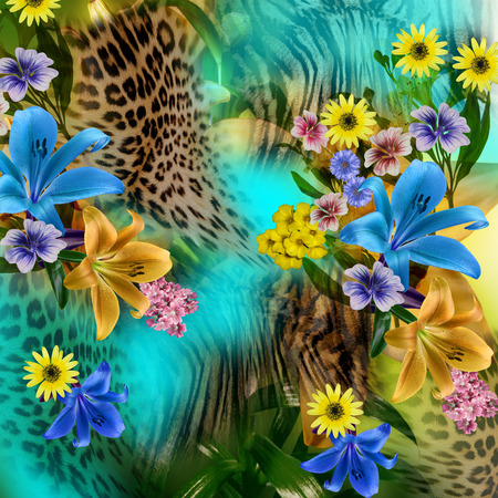 isolated animal: flower leopard