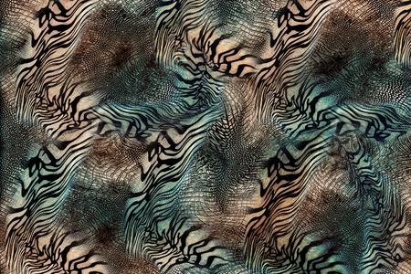 Serpent peau de tigre Banque d'images - 53538951