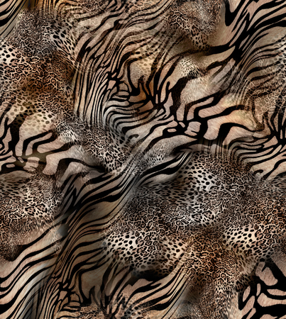 tiger and leopard skin seamless background
