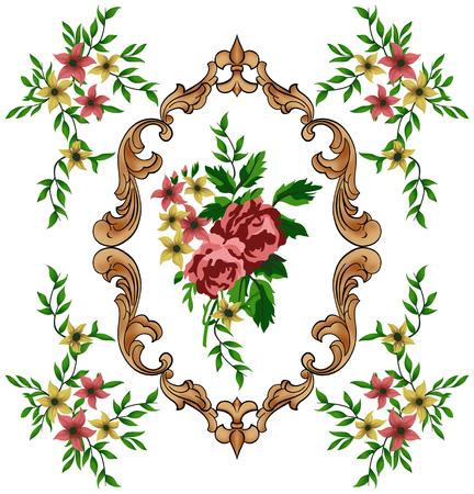mirror image: baroque flowers