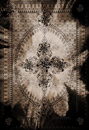 Tapis tapis ethnique floral Banque d'images - 93941498
