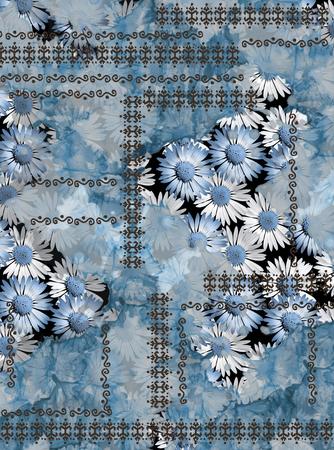 Tapis de marguerites de fleurs Banque d'images - 94496812