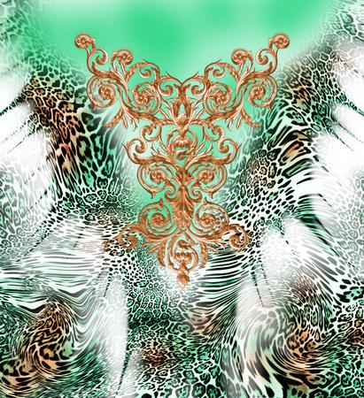 Motif de léopard baroque Banque d'images - 94616981
