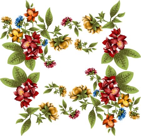 Fleurs d'illustration en arrière-plan simple Banque d'images - 94669998